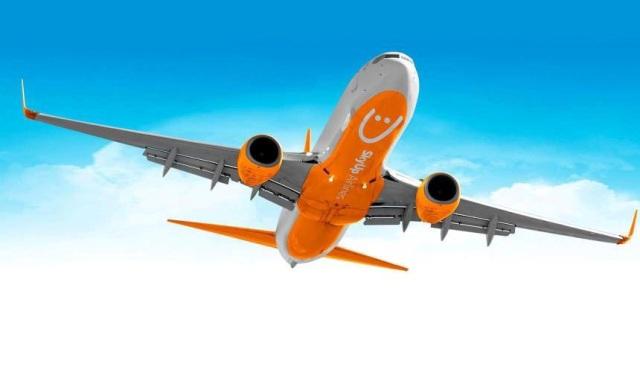 Boeing 737 в ливрее авиакомпании SkyUp