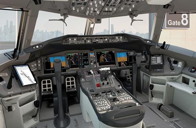 Общая компоновка кабины Boeing 777X напоминает дизайн модели 787
