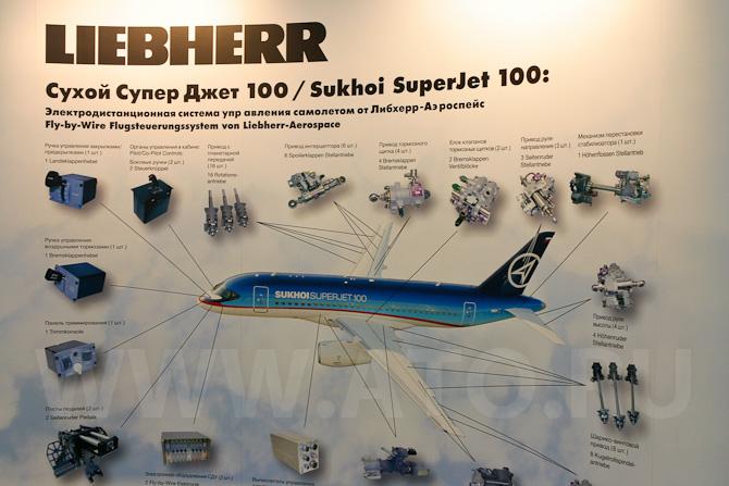Участие Liebherr в программе регионального самолета Сухой Superjet 100.