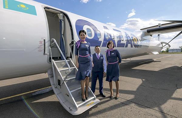 Одна из целей Qazaq Air — начало международных рейсов в соседние страны // Qazaq Air