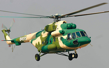 China is again increasing defense imports from Russia through purchases of helicopters and aircraft engines