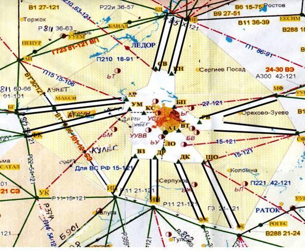 Московская воздушная зона карта скачать
