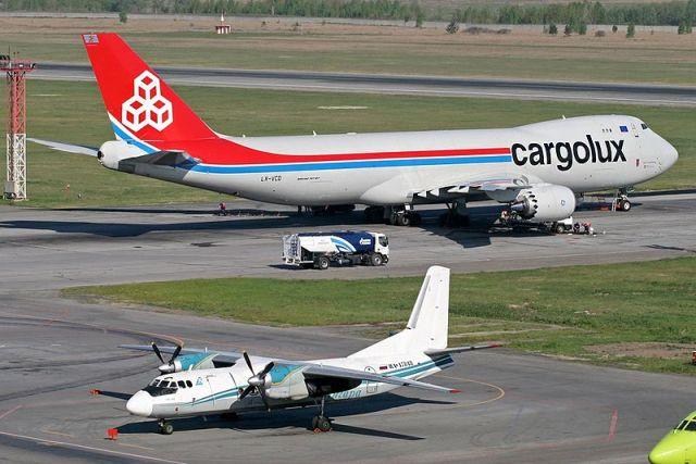 Cargolux в аэропорту Толмачево (Новосибирск)