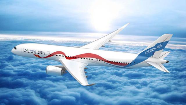 Рендеринг самолета CR 929-600