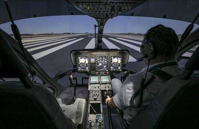 Полнопилотажный тренажер для вертолета H145