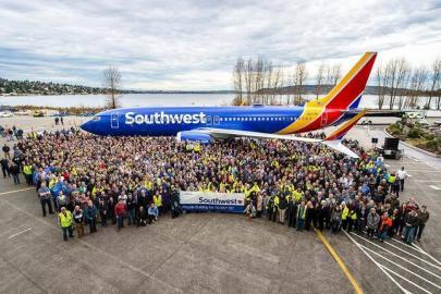 Десятитысячный Boeing 737 достался крупнейшему лоукостеру мира, американской Southwest Airlines :: Boeing