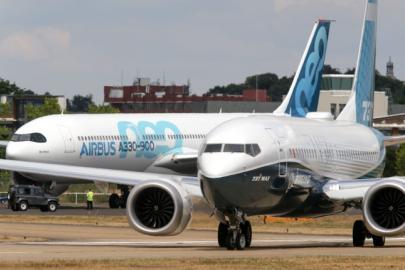 Boeing-737MAX и Airbus A330neo, пока получающие не слишком много заказов, представлены на авиасалоне Фарнборо :: Леонид Фаерберг // Transport-photo.com