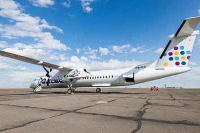 Самолет Bombardier Q400 авиакомпании Qazaq Air