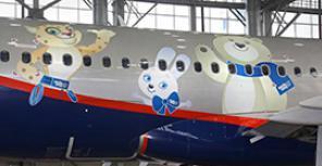 """""""Аэрофлот"""" продемонстрировал А320 с олимпийской символикой"""