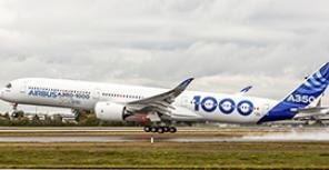Первый полет A350-1000