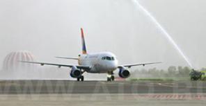 Передача первого самолета Sukhoi Superjet 100