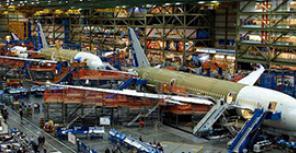 ФОТОотчет с посещения завода по производству Boeing 787