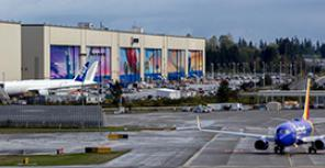 Производство широкофюзеляжных самолетов Boeing