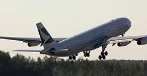 Первый рейс Cathay Pacific Москва - Гонконг