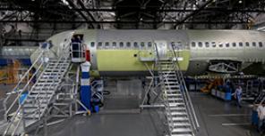 Производство самолета МС-21