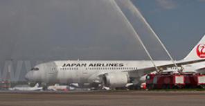 Начало полетов в Домодедово Boeing 787 японской JAL