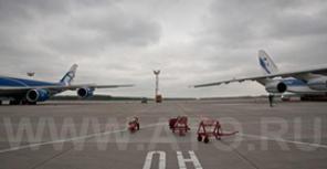 """""""Волга-Днепр"""" показала в Домодедово Ан-124 и Boeing 747-8"""