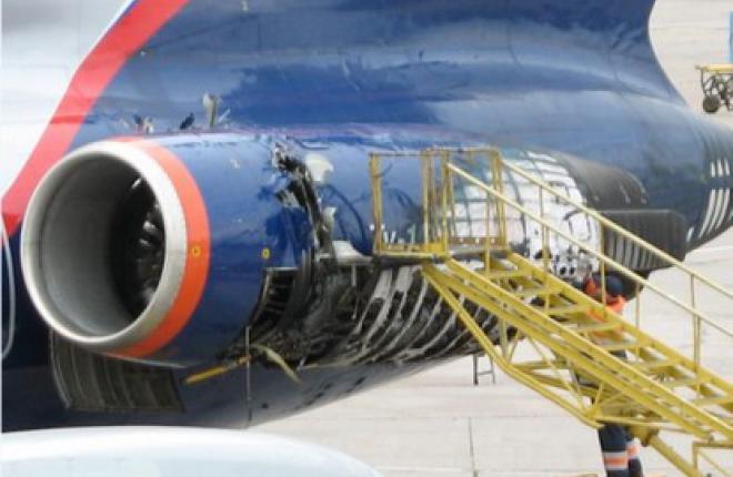 Ту-154М (RA-85667) после разрушения диска КНД (Кирилл Кириллов)
