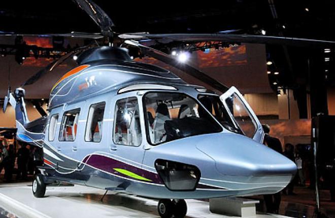 Тихий взлет вертолета EC175