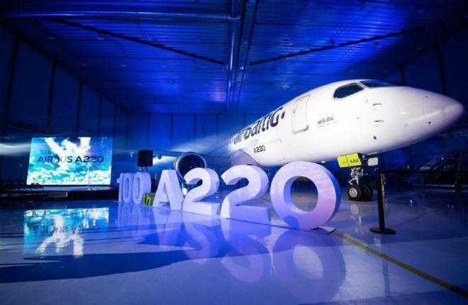 Сотый самолет A220