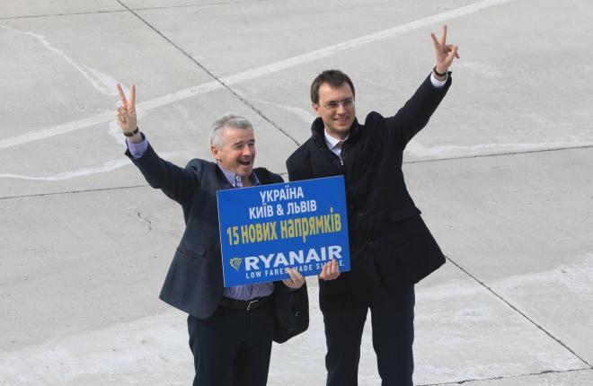 Глава Ryanair Майкл О'Лири пообещал перевозить с Украины до 800 тыс. пассажиров в год :: Ryanair