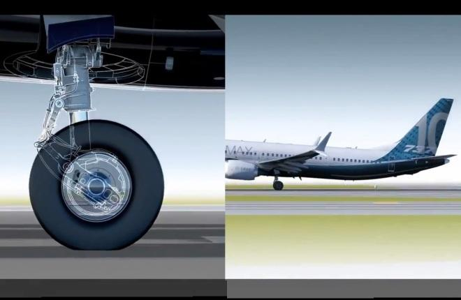 Складное шасси Boeing 737MAX-10