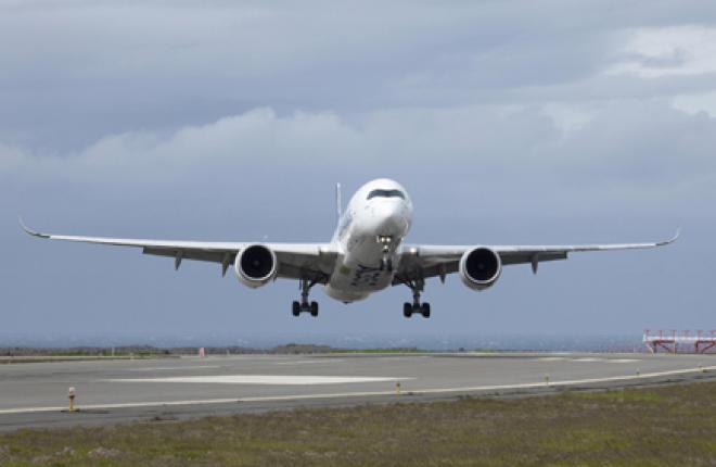 Самолет Airbus A350XWB прошел испытания при боковом ветре