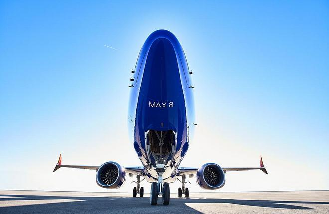 самолет Boeing 737MAX авиакомпании Southwest Airlines