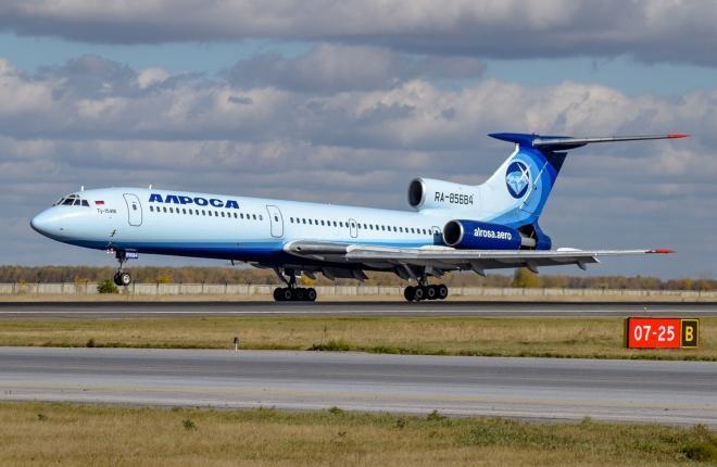 """Ту-154М с бортовым номером RA-85684 авиакомпании """"Алроса"""""""