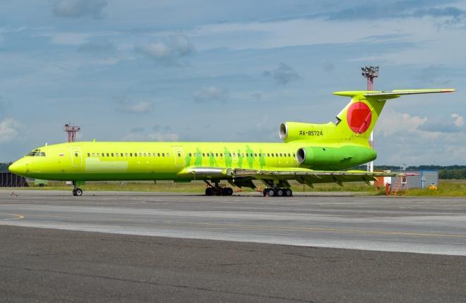 Ту-154М с бортовым номером RA-85724