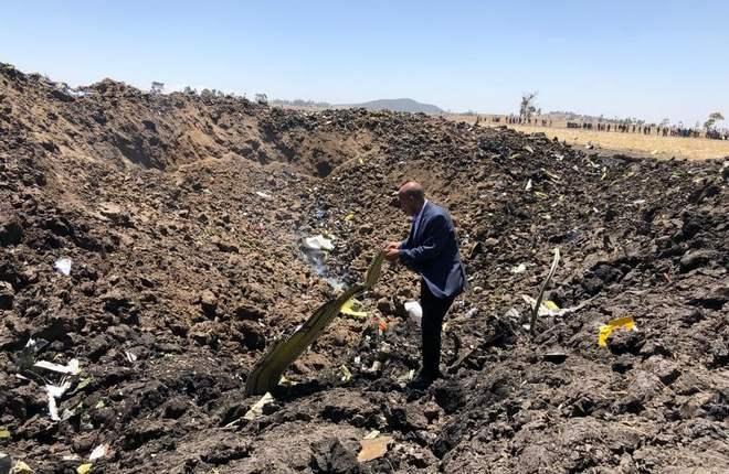 Место падения рейса ET 302 авиакомпании Ethiopian Airlines