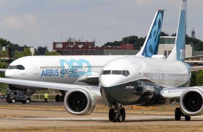 Boeing 737MAX и Airbus A330neo, пока получающие не слишком много заказов, представлены на авиасалоне Фарнборо :: Леонид Фаерберг // Transport-photo.com