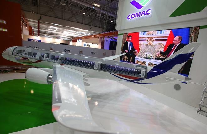Появление финального облика CR929 приурочили к встрече руководителей России и Китая :: Леонид Фаерберг / Transport-Photo.com