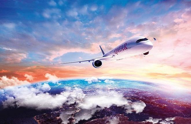 Самолет A350 авиакомпании Qatar Airways