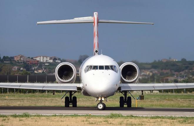 самолет Boeing 717 авиакомпании Volotea