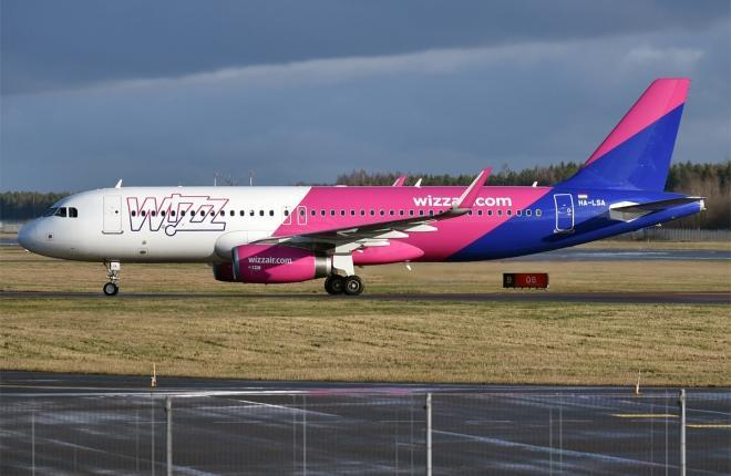 Самолет семейства А320 авиакомпании Wizz Air