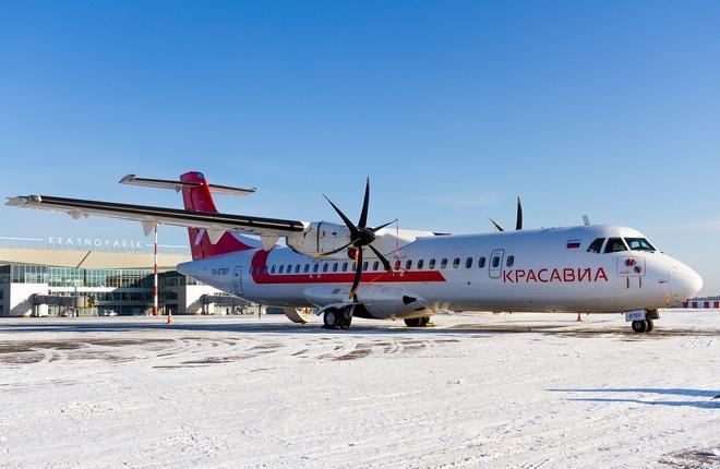 """региональный самолет ATR 72-500 авиакомпании """"КрасАвиа"""""""