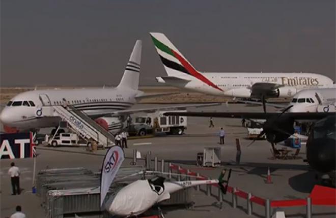 Последние приготовления к открытию авиасалона Dubai Airshow 2013