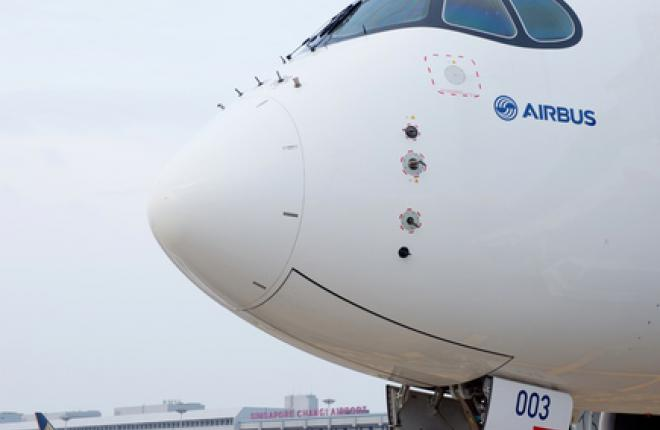 Самолет A350 прилетел на авиашоу в Сингапуре