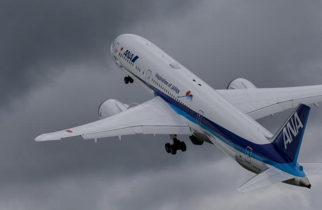 Самолет Boeing 787 Dreamliner авиакомпании All Nippon Airways