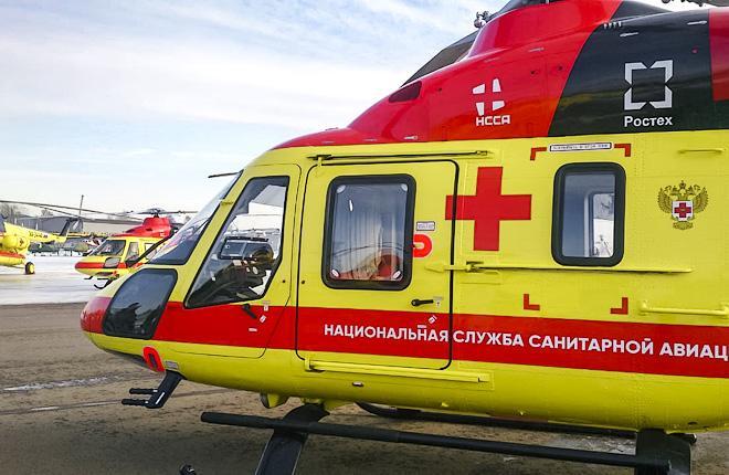 """Вертолет """"Ансат"""" Национальной службы санитарной авиации"""