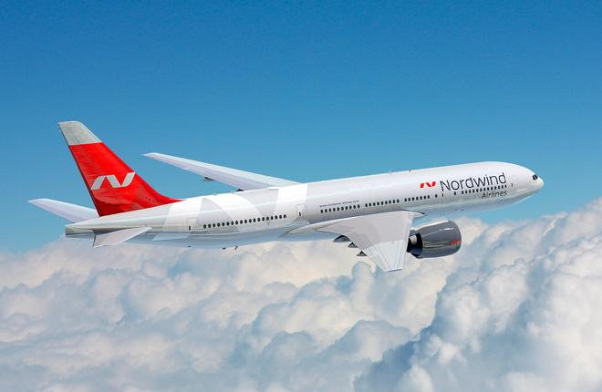 Самолет Boeing 777 авиакомпании NordWind Airlines