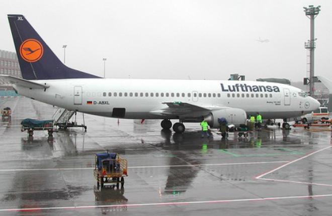 Авиакомпания Lufthansa демонстрирует падение загрузки на своих рейсах
