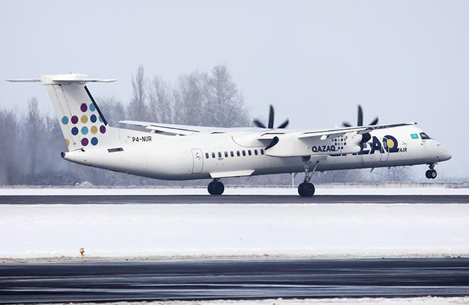 Все три турбопропа Bombardier Q400 авиакомпания Qazaq Air получила новыми