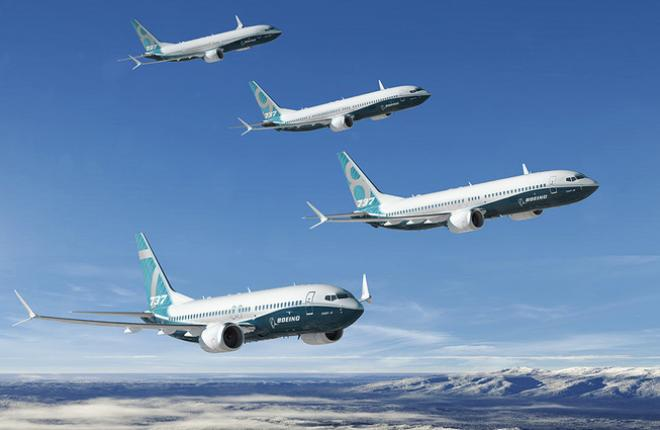 Парк самолетов Boeing