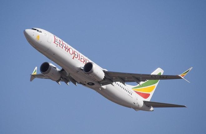 самолет Boeing 737MAX авиакомпании Ethiopian Airlines