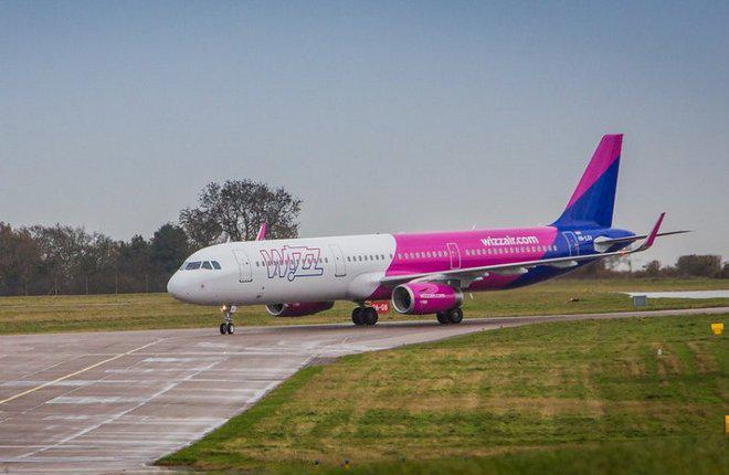 Самолет семейста Aibus A320 авиакомпании Wizz Air