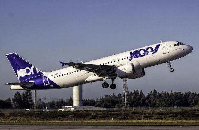 Самолет семейства Airbus A320 авиакомпании Joon
