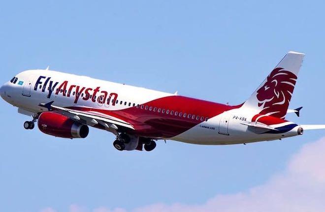 самолет авиакомпании FlyArystan