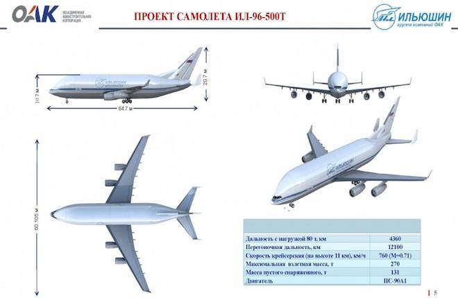 Проект самолета Ил-96-500Т